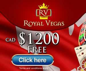 Royal Vegas - 1200 free money